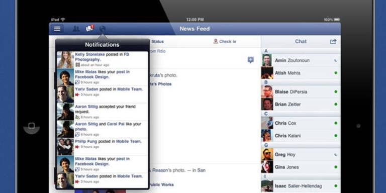 Eigene Facebook-App für das iPad ist da