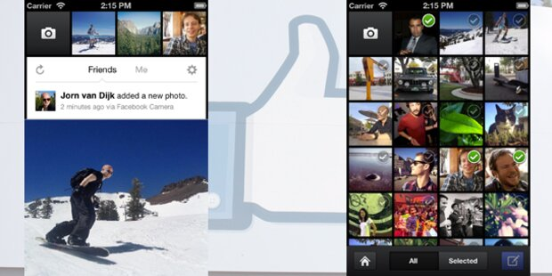 Facebook startet eigene Kamera-App