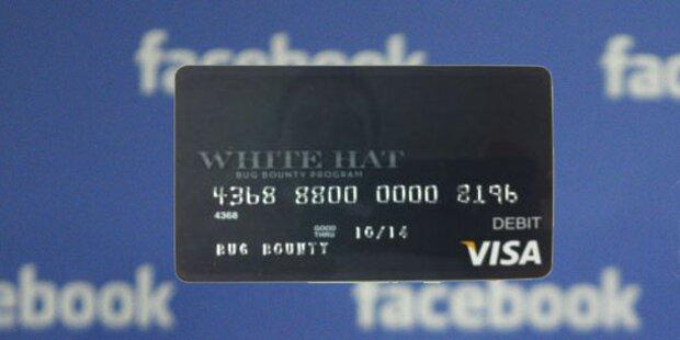Facebook: Kreditkarte als Hacker-Belohnung