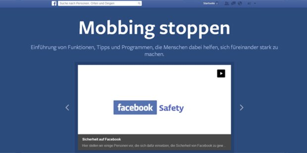 Facebook-Portal gegen Mobbing gestartet
