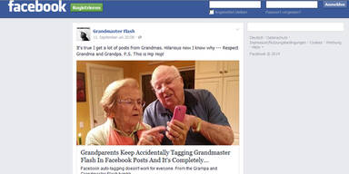 Witziger Oma-Fehler bei Facebook