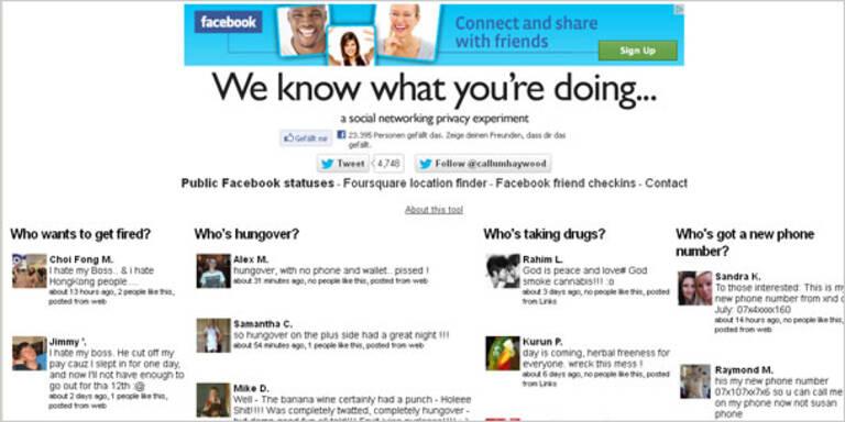 """Webseite sammelt """"böse"""" Facebook-Einträge"""