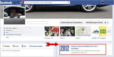 Persönlicher Jahresrückblick bei Facebook