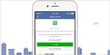 """Facebook: 4,1 Millionen """"Safety-Checks"""""""
