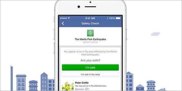 Facebook aktiviert Safety-Check