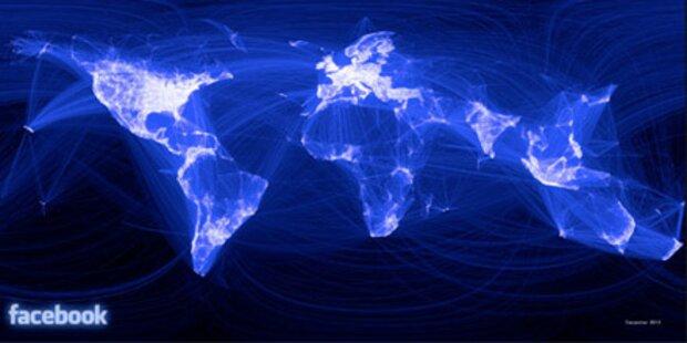 So sieht die Facebook- Welt von oben aus