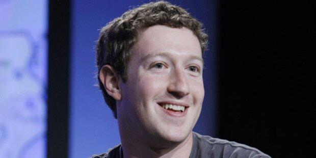 Mark Zuckerberg ist so reich wie noch nie