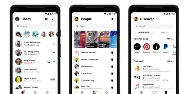 Facebook Messenger ist jetzt völlig neu