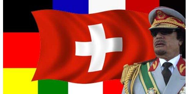 Gaddafi will die Schweiz auflösen