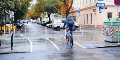 Radfahrer oft schlecht sichtbar