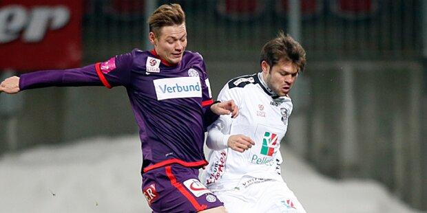 0:0 - Kein Trainereffekt bei Austria