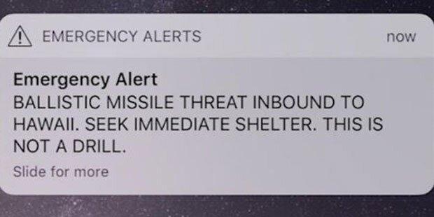 Falscher Raketenalarm schreckt Hawaii