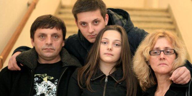 Mazedonische Familie vor Abschiebung