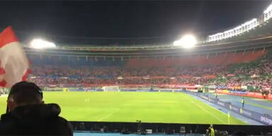 Traurige Kulisse: So leer waren die Ränge im Happel-Stadion