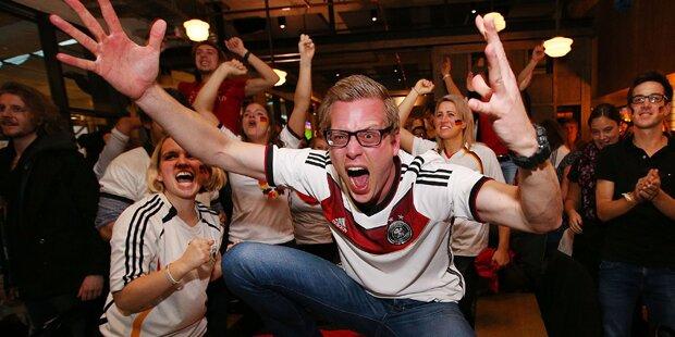 Deutsche Fans lärmten in Wien