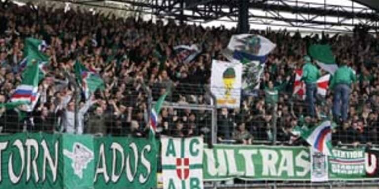 21.000 Fans auf der Gugl, darunter 7.000 Rapid Fans