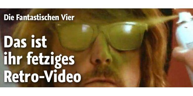 Fanta 4 mit schrägem Retro-Video zurück