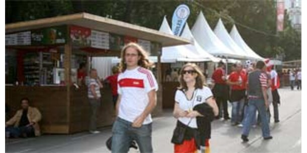 Ein Viertel der Stände in Wiener Fanzone sperrt zu
