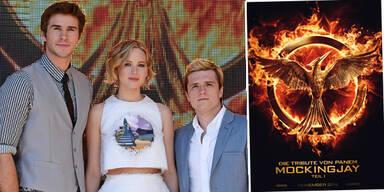 Liam Hemsworth, Jennifer Lawrence und Josh Hutcherson zu Mocking Jay Teil 1