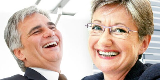 Claudia Schmied und Kanzler als Gewinner