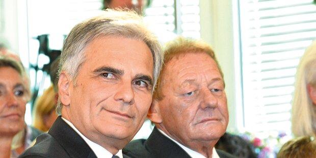 Faymann rockt mit Ambros