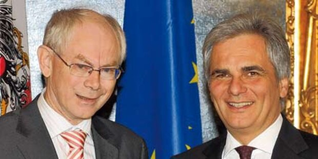 ÖVP holt Rompuy, Kanzler will Putin