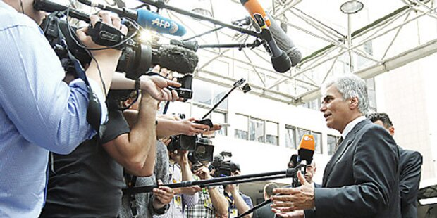 Faymann gegen Euro-Austritt Athens
