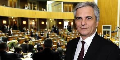 Faymann stellt sich dem Parlament