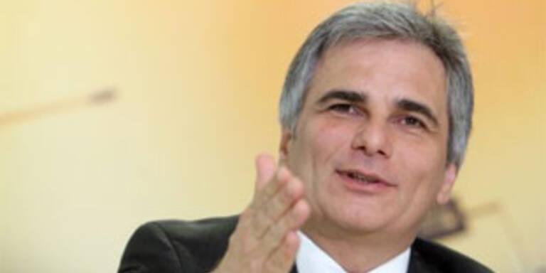 Faymann folgt Gusenbauer als SPÖ-Parteichef nach