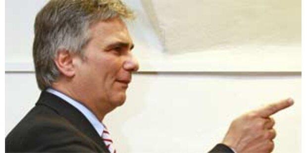 Faymann will mit Opposition Beschlüsse fassen