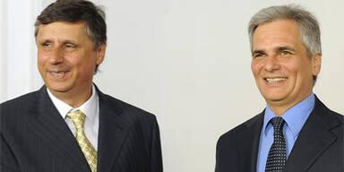 Bundeskanzler Werner Faymann mit tschechischem Amtskollegen Jan Fischer