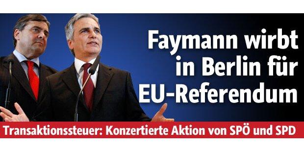 Bundeskanzler startet 1. EU-Volksbegehren