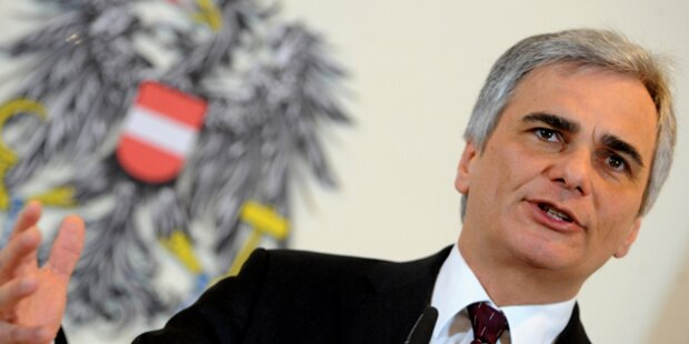 Faymann warnt vor Aus für Euro-Zone