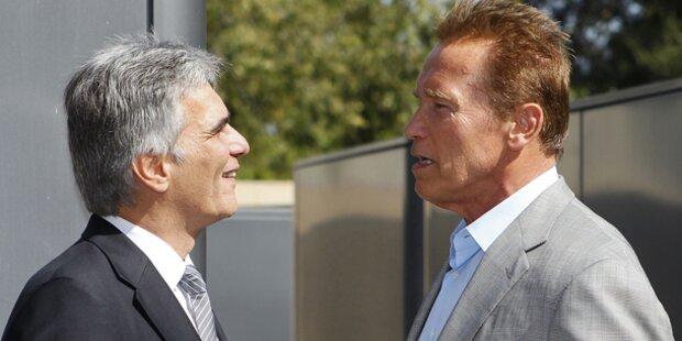 Faymann: Date mit Arnie