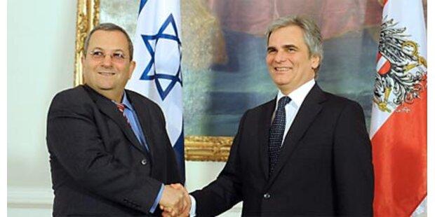 Faymann mit Barak zusammengetroffen