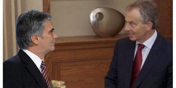 Faymann wettert gegen Tony Blair