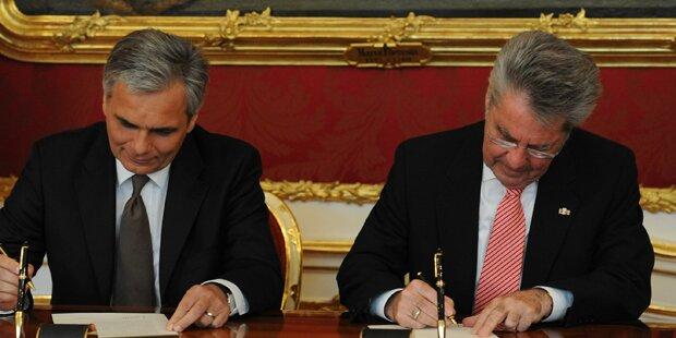 Ministerrat fixiert neue Büros für Fischer & Faymann