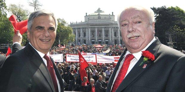 SPÖ-Maiaufmarsch im Zeichen der EU-Wahl