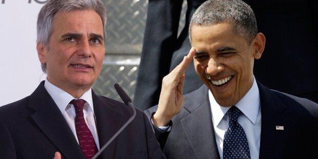 Faymann trifft auf Obama