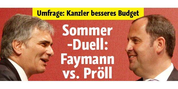 Sommer-Duell zwischen Faymann und Pröll