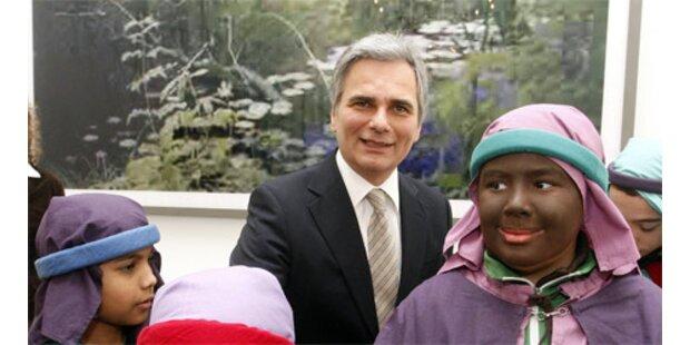 Sternsinger besuchten Bundeskanzler Faymann
