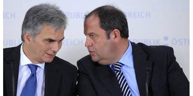 SPÖ und ÖVP liegen wieder Kopf an Kopf