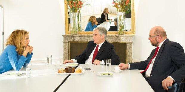 Faymann & Schulz: EU-Gipfel in ÖSTERREICH