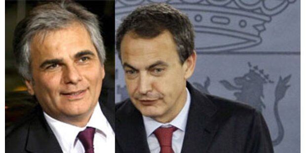 Faymann spricht mit Zapatero über Türkei