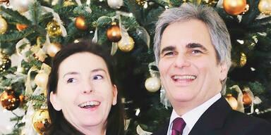Politiker feiern mit Familie