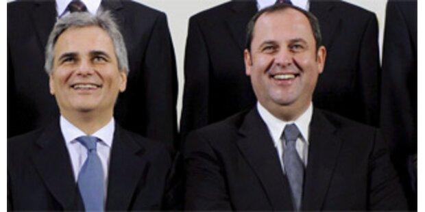 Faymann und Pröll versprechen keine neuen Steuern