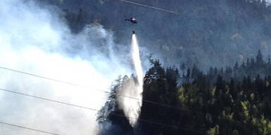 Waldbrand in Kärnten: Großeinsatz