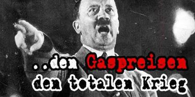 Steirischer Gasanbieter wirbt mit Hitler