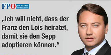 Homo-Ehe: FPÖ-Posting sorgt für Wirbel