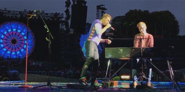Teenie spielt vor 70.000 mit Coldplay